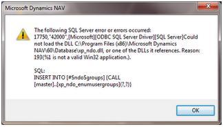 xp_ndo dll Error – Extended Stored Procedure - Microsoft
